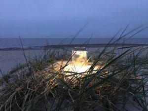 Romantik in den Dünen mit Blick auf die Nordsee. CA-Foto