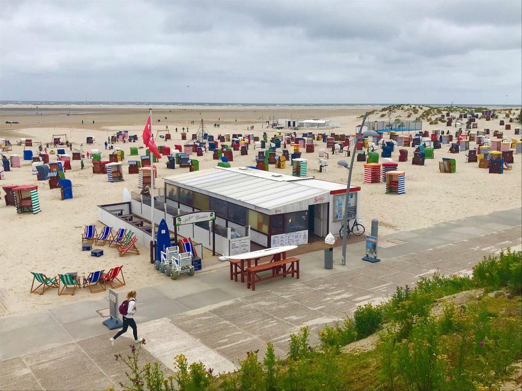 Ein Bild, das es im Moment so nicht gibt: Urlaubsatmosphäre am Strand von Borkum. CA-Foto