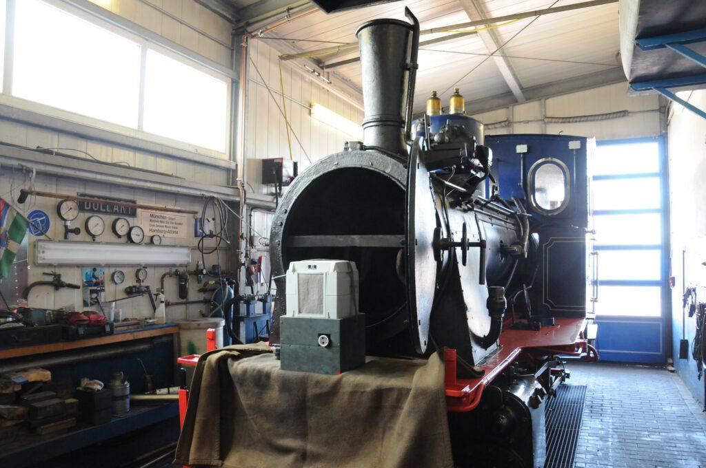 Traditionell: Eine der Lokomotiven der Borkumer Kleinbahn. CA-Foto